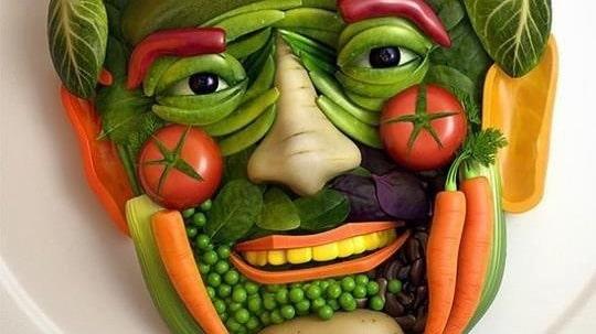 Vegetable Face Art