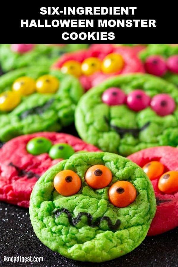 Six-ingredient Halloween Monster Cookies