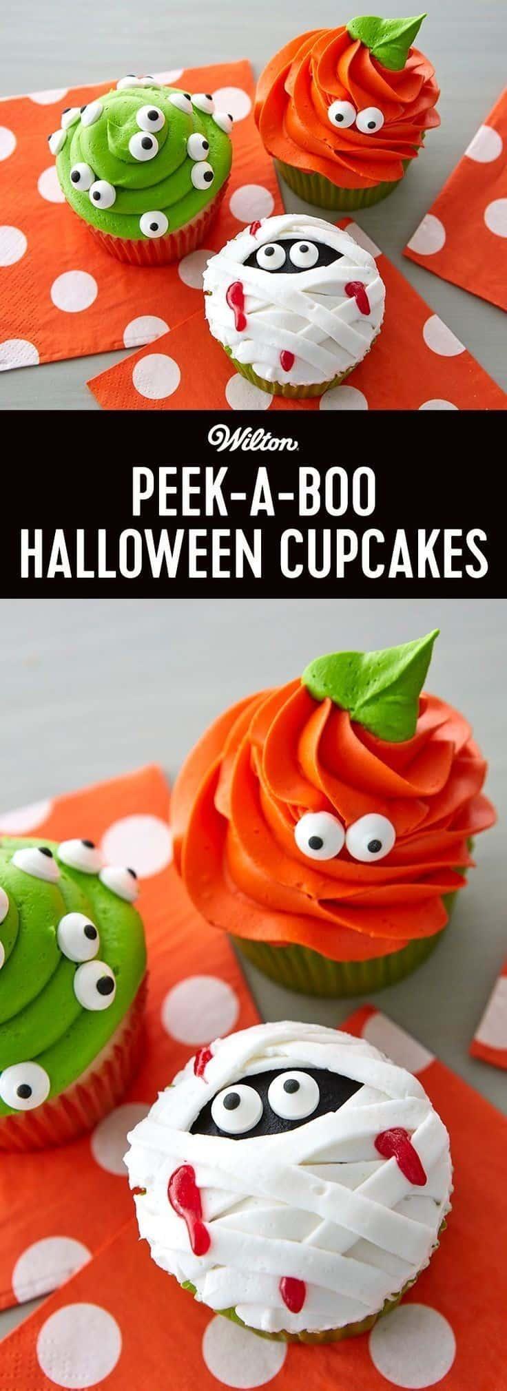Peek-A-Boo Halloween Cupcakes