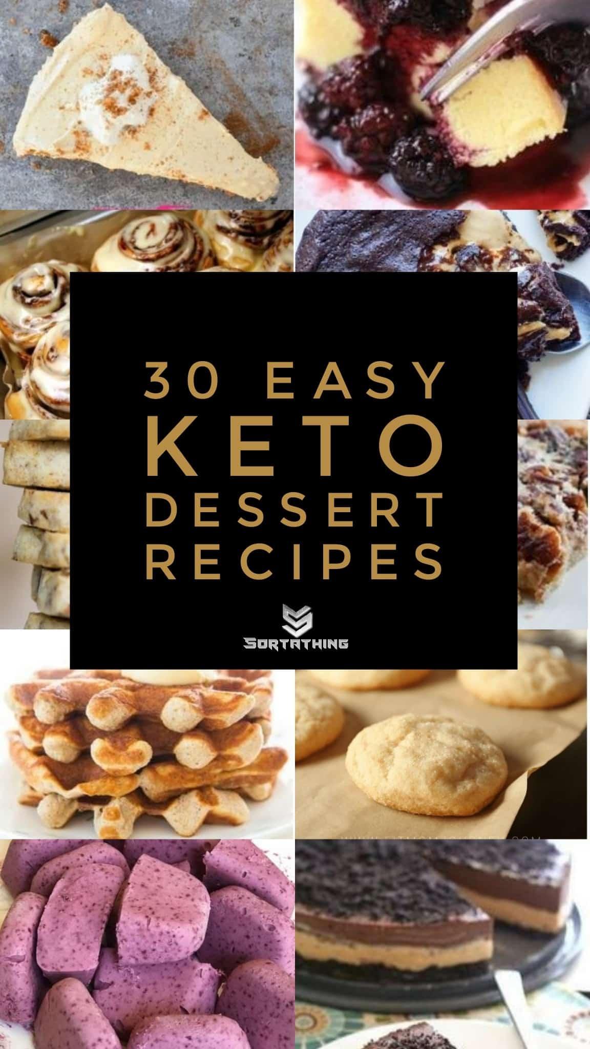 30 Easy Keto Dessert Recipes