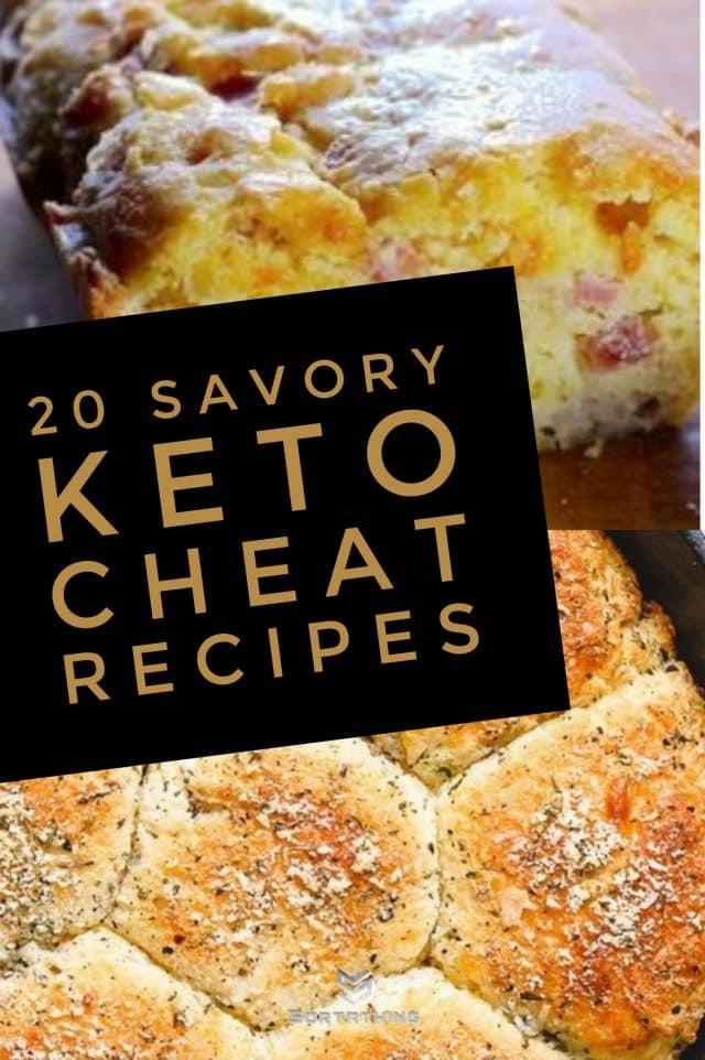 Keto Cheese and Bacon Bread & Garlic Butter Keto Bread