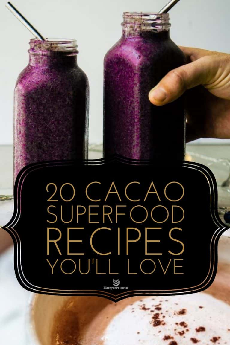Superfood Hot Cacao Tonic & Blueberry Cacao Flaxseed Smoothie