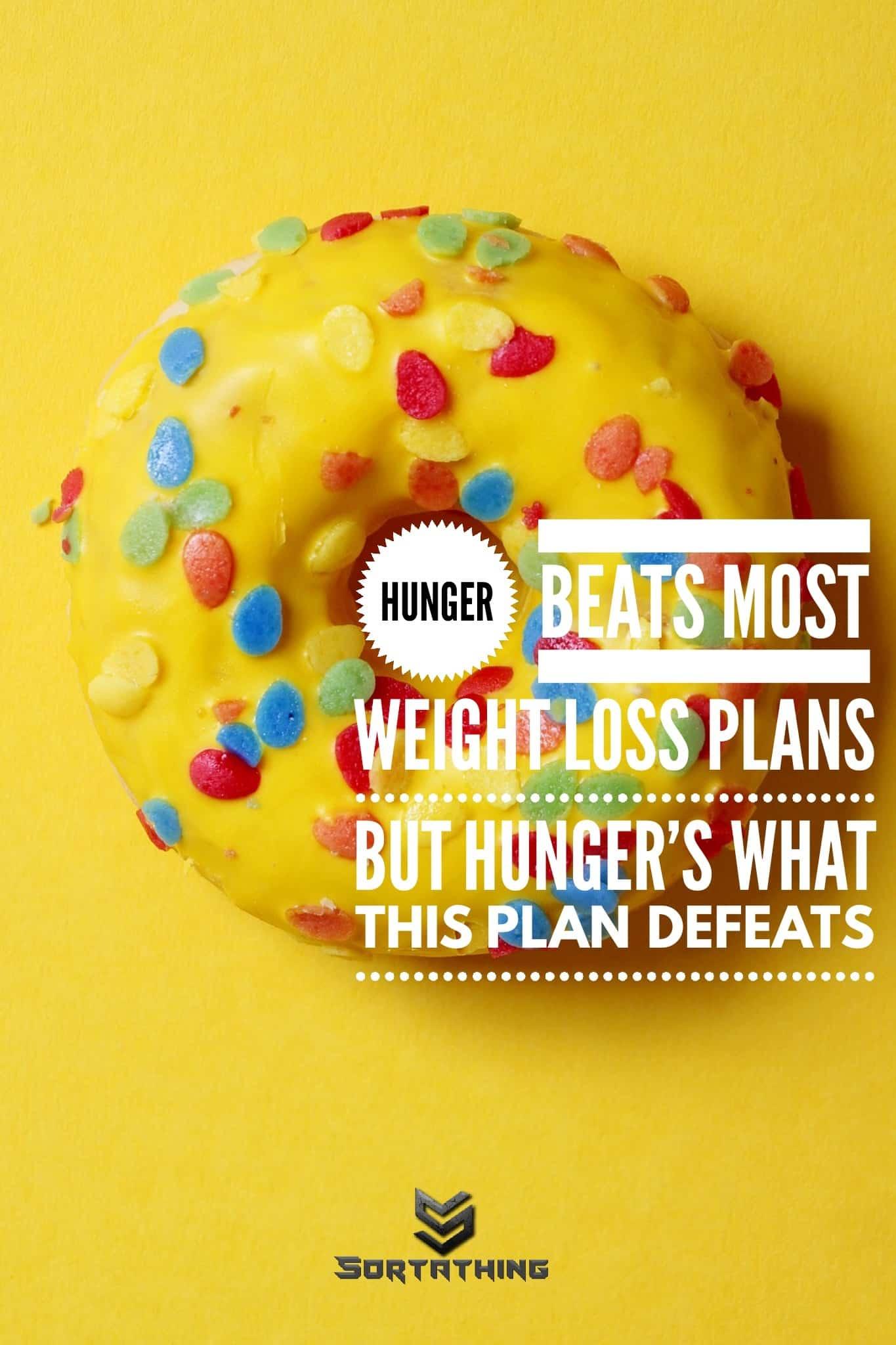 Weight loss plan doughnut