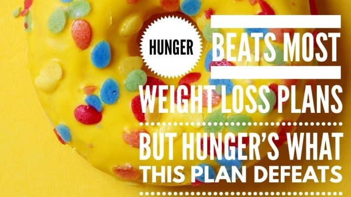 Weight loss plan donut