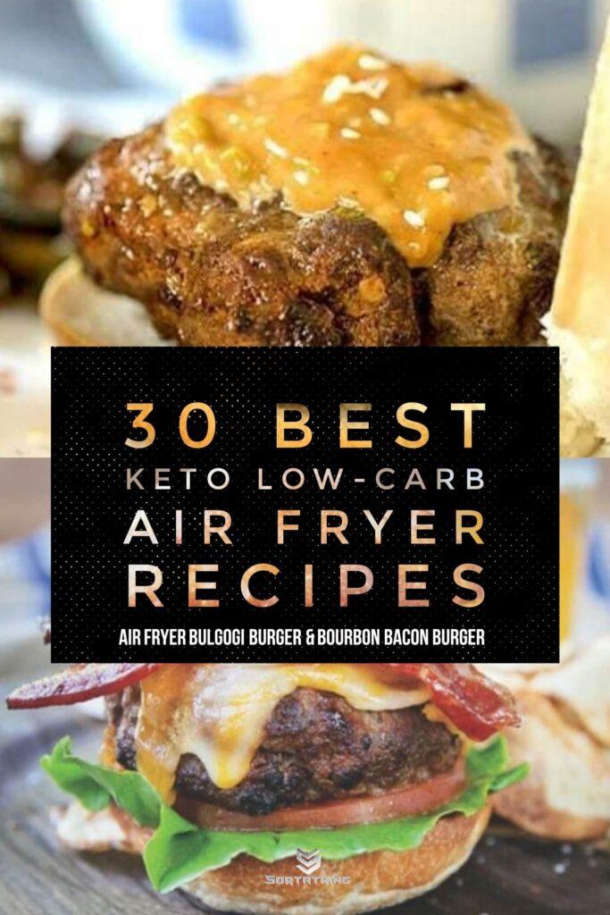 Air Fryer Bulgogi Burger & Bourbon Bacon Burger