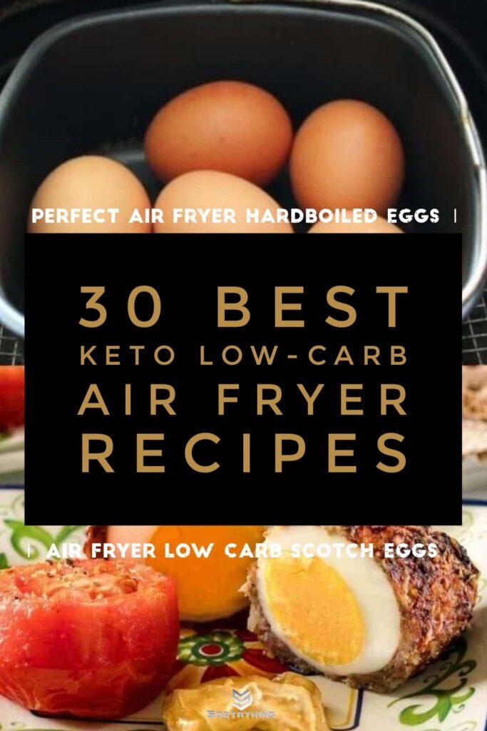 Perfect air fryer boiled eggs & keto scotch eggs