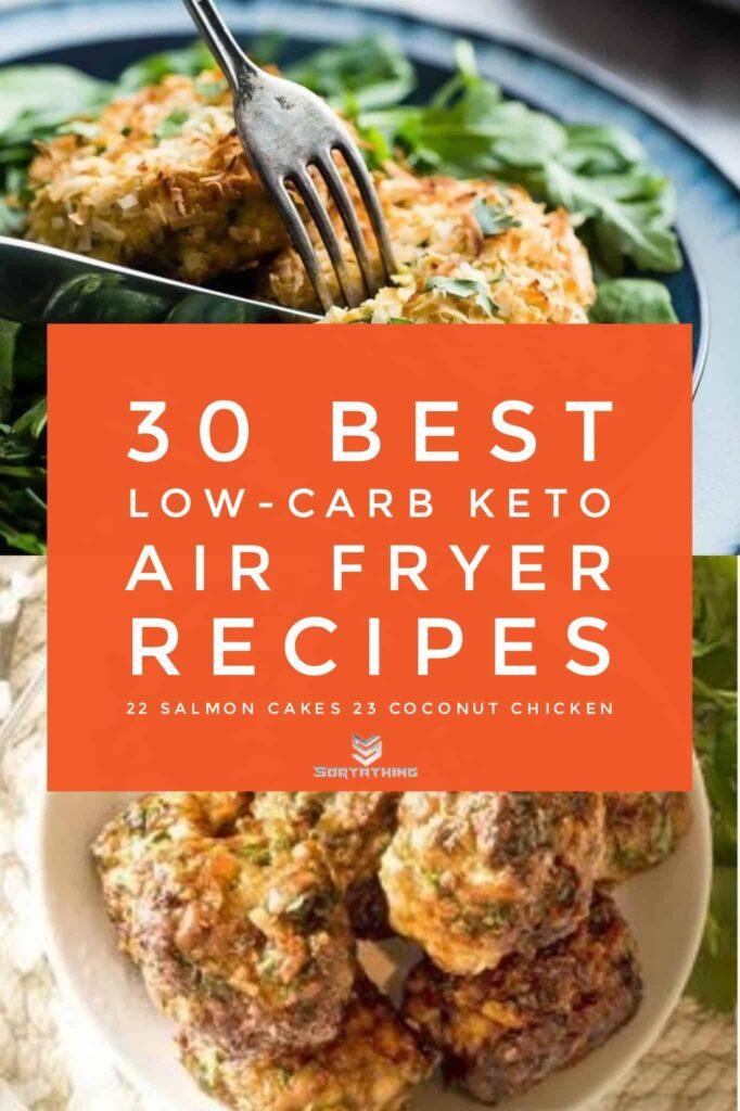 Air Fryer Salmon Cakes & Keto Chicken Coconut Meatballs