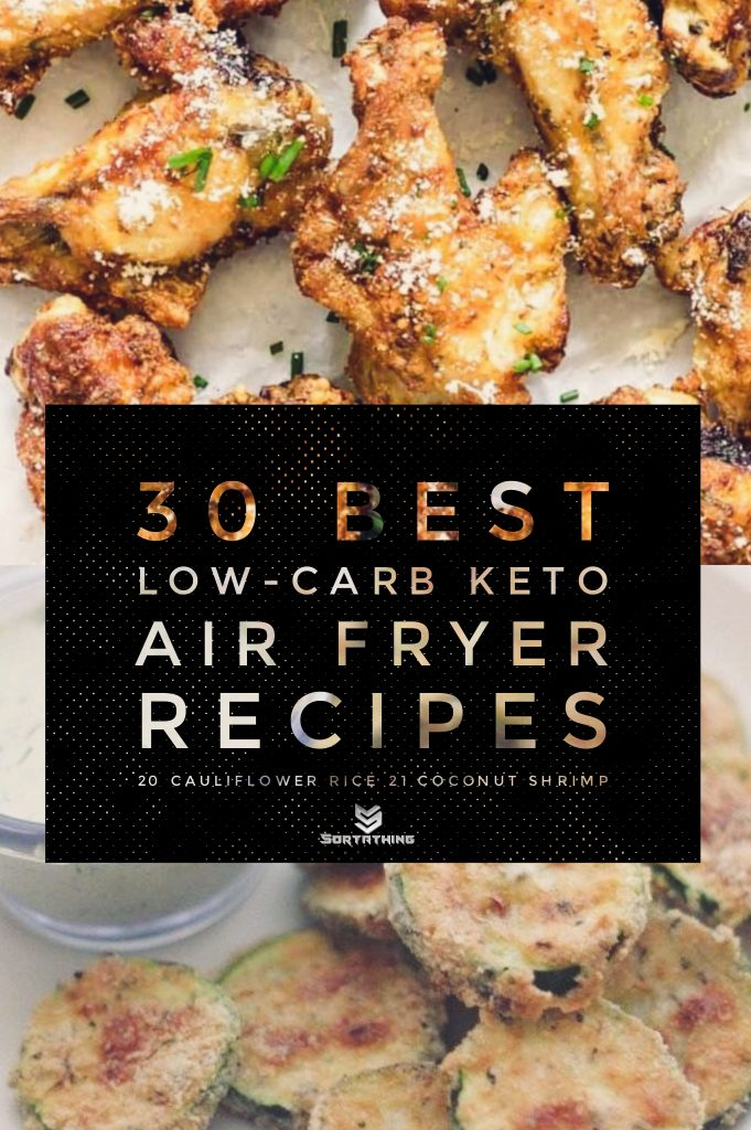 Crispy Chicken Wings & Air Fried Parmesan Zucchini