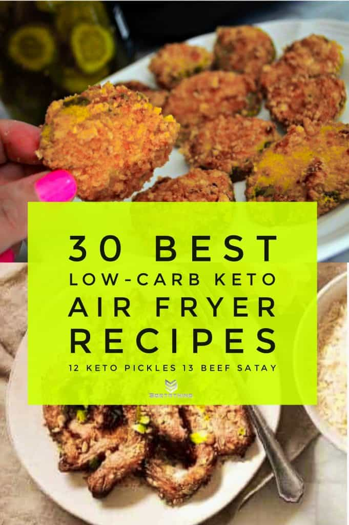 Air Fryer Keto Pickles & Beef Satay
