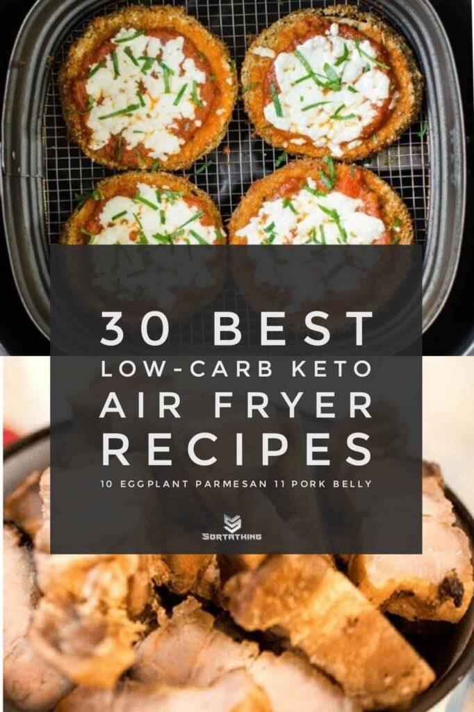 Air Fryer Healthy Eggplant Parmesan & Pork Belly