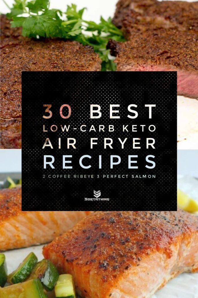 Air Fryer Coffee Spice Ribeye & Air Fryer Salmon