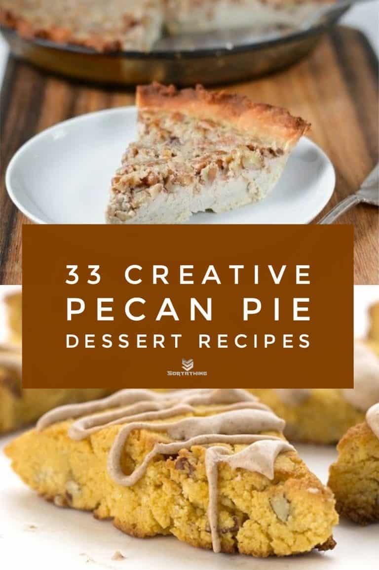 Pecan Custard Pie & Pumpkin Pecan Scones with Cinnamon Glaze