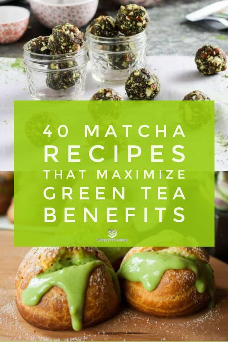 5-Ingredient Matcha Green Tea Energy Bites & Matcha Cream Puffs