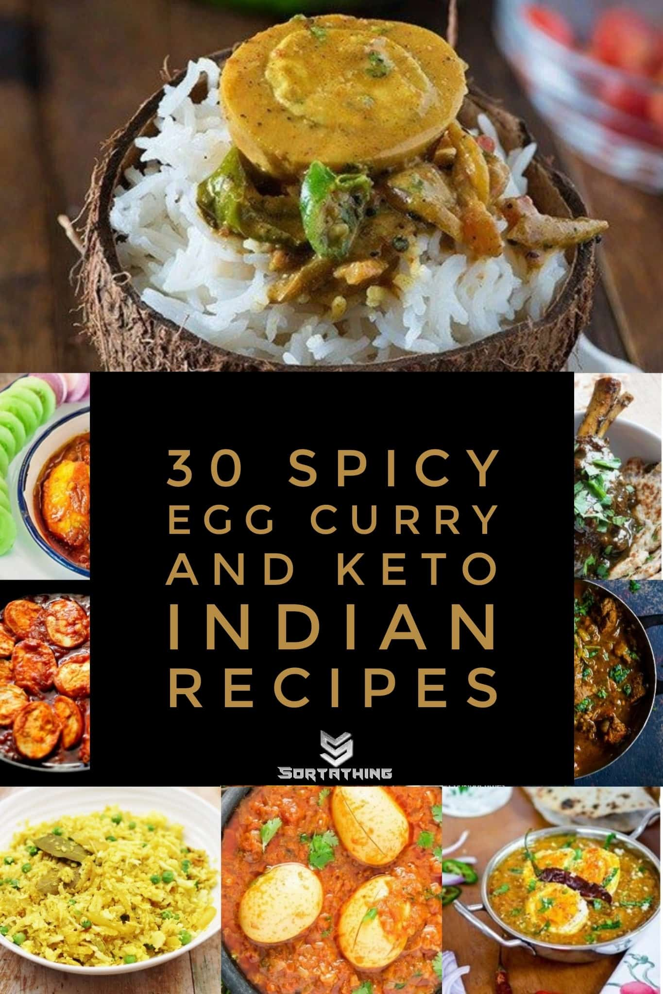 30 spicy egg curry & keto Indian recipes