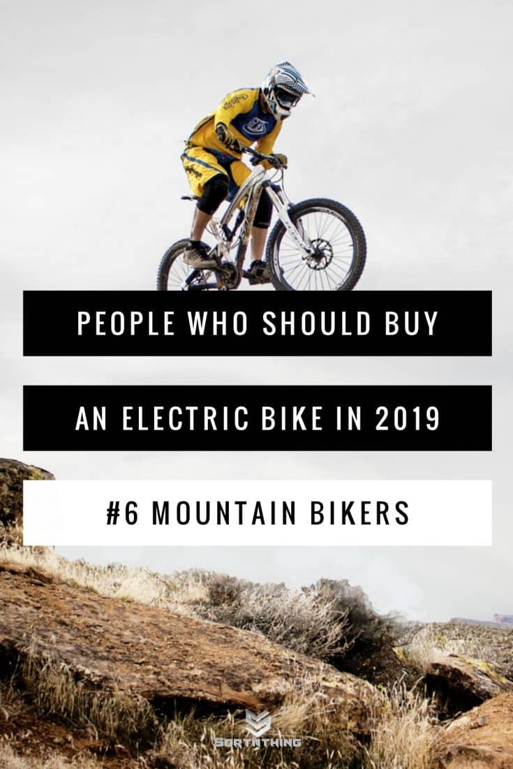 Electric mountain bikers