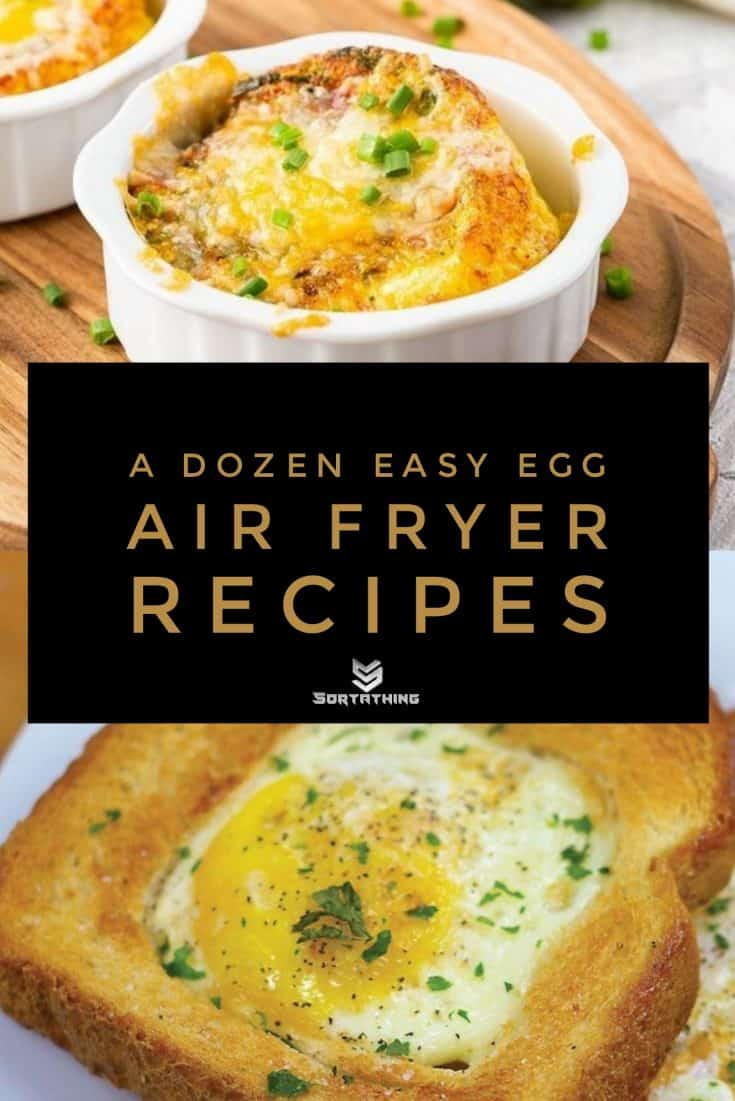 Air Fryer Egg Cups and Air Fried Egg in a Hole