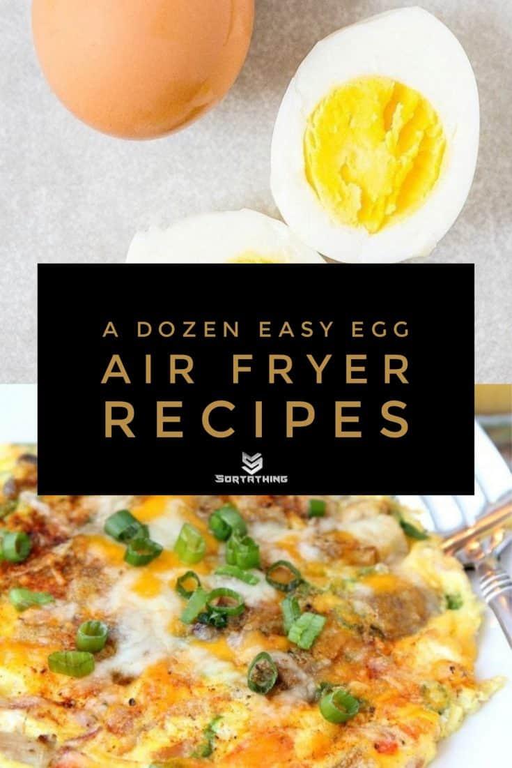 Air Fryer Boiled Eggs & Air-Fried Omelette