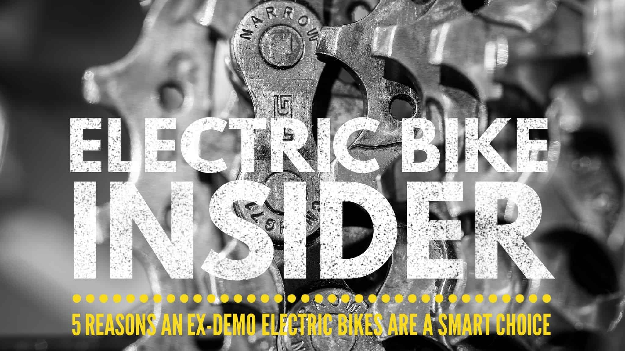 ex-demo electric bikes