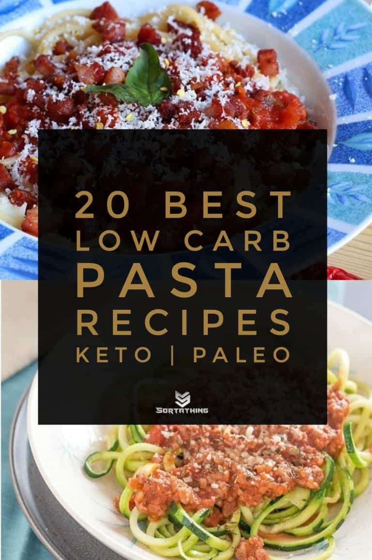 Low Carb Pasta Amatriciana & Creamy Bolognese