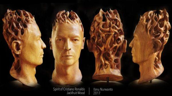 """Spirit of Cristiano Ronaldo"" - Original Artwork by Ibnu Nurwanto"