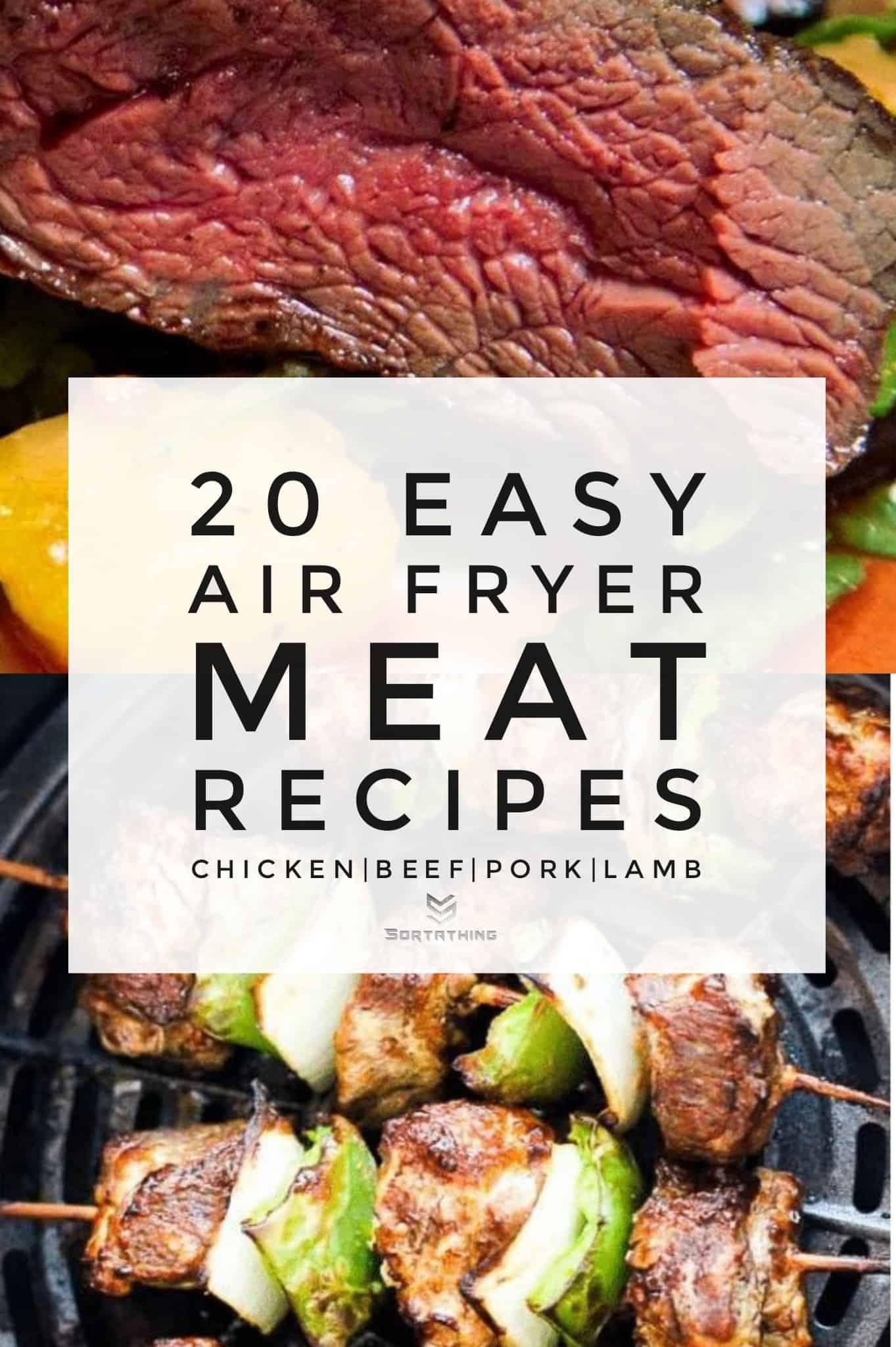 Air Fryer Roast Beef & Juicy Beef Kabobs