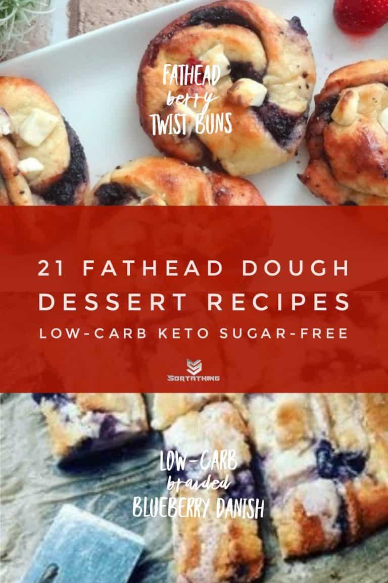 Fathead Berry Twist Buns & Low-Carb Braided Blueberry Danish