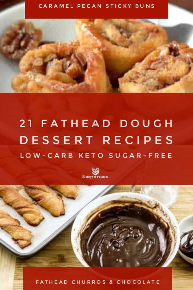 Caramel Pecan Sticky Buns & Keto Fathead Dough Baked Churros with Chocolate