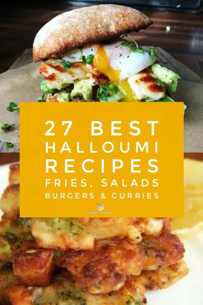 Grilled Halloumi, Avocado & Poached Egg Wholemeal Sandwich & Broccoli, Cauliflower & Halloumi Fritters