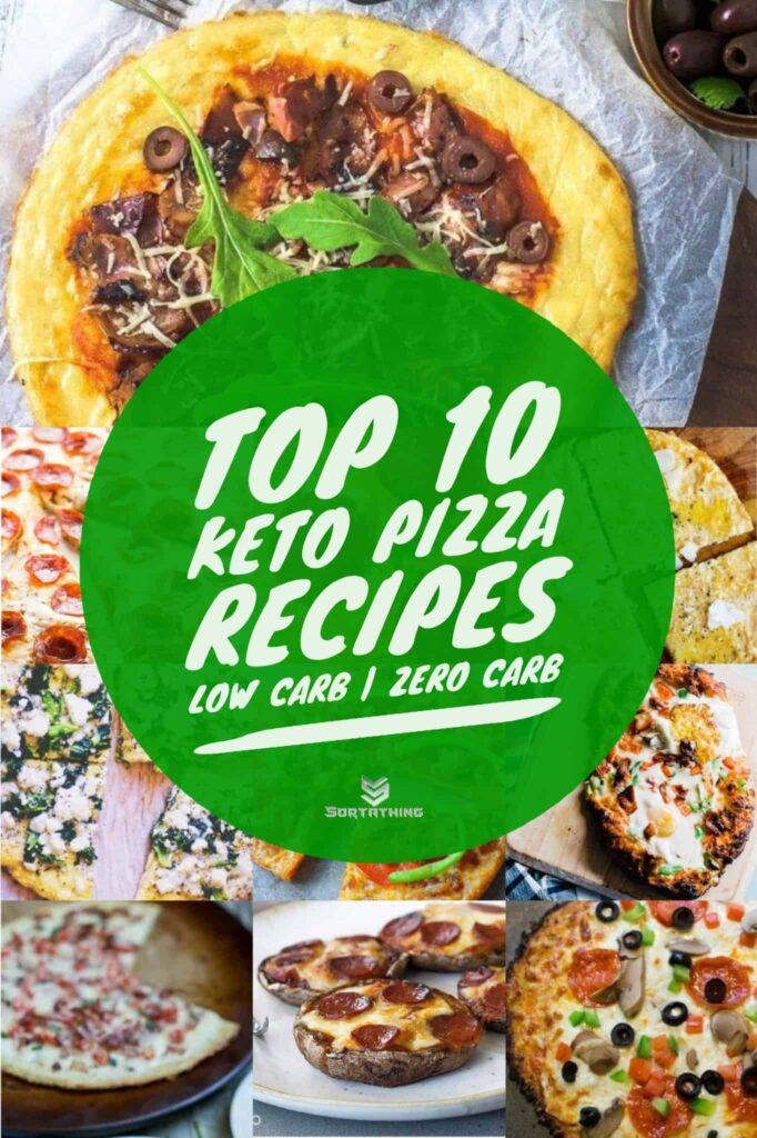 10 keto pizza recipes - low carb zero carb pizza crust recipe