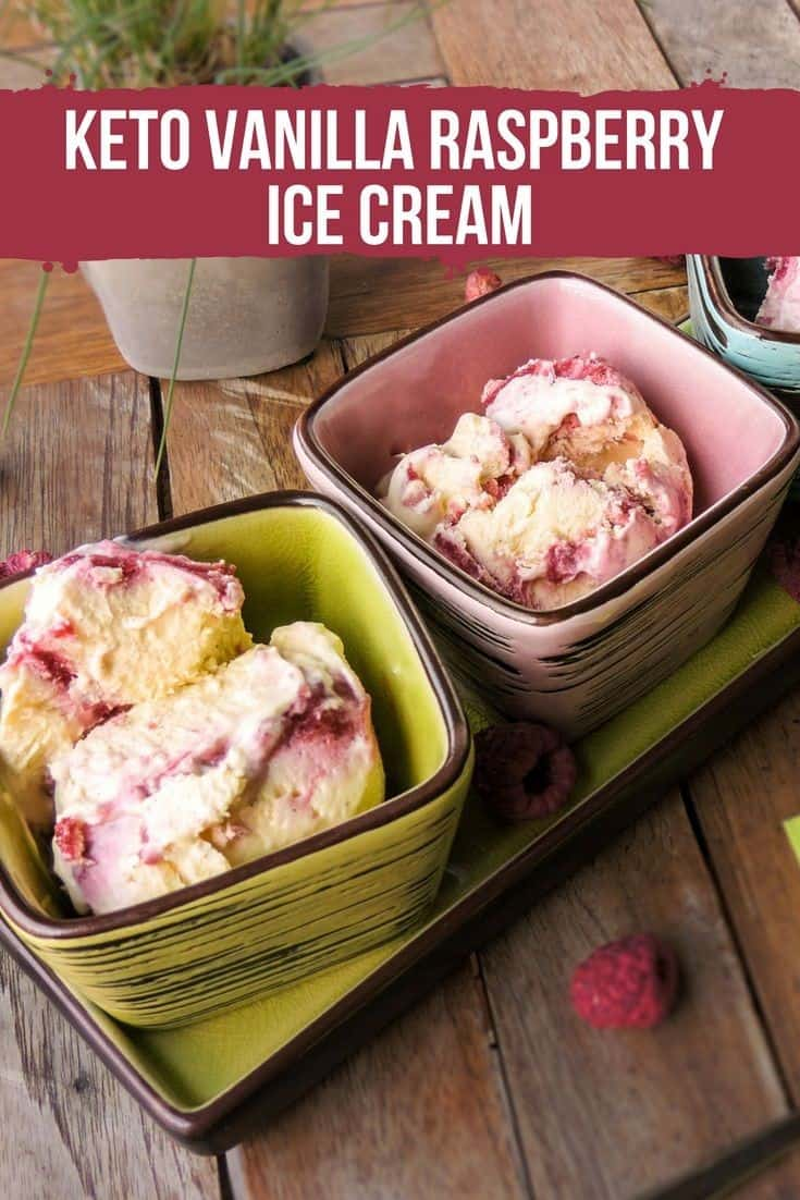Keto Vanilla Raspberry Ice Cream