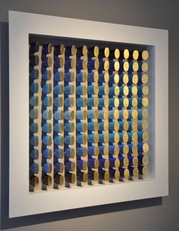 """121 Blue Cylellipses"" - Original Artwork by Philippe Leblanc"