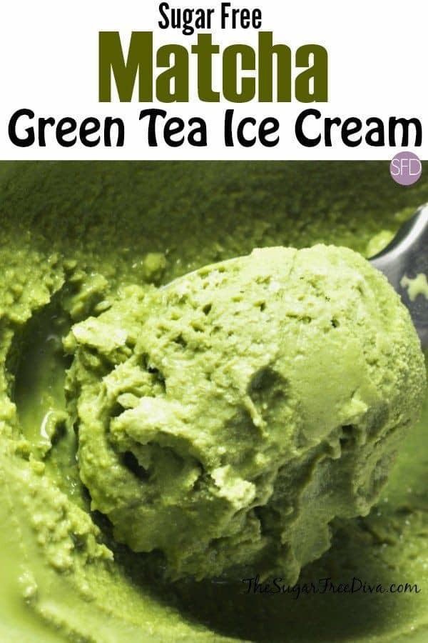 Sugar-Free Matcha Green Tea Ice Cream