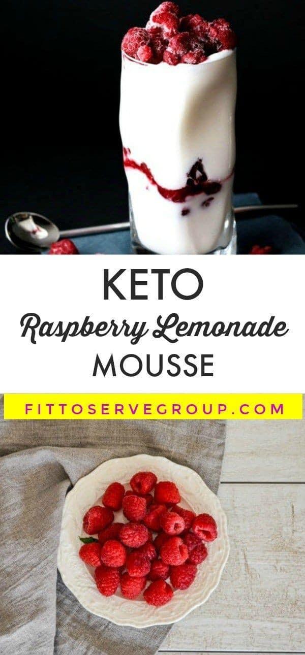 Keto Raspberry Lemonade Mousse