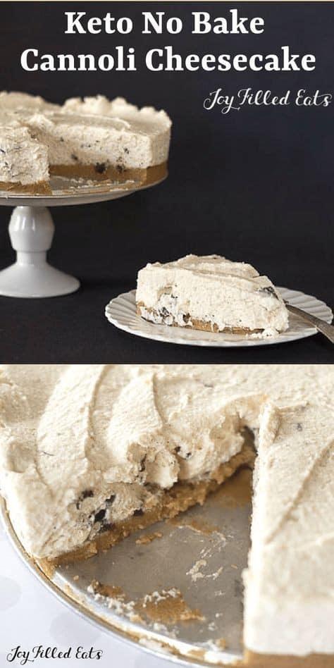 Keto No-Bake Cannoli Cheesecake