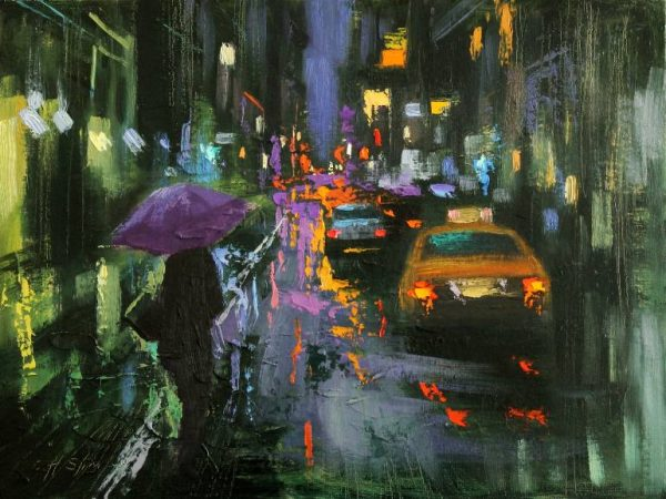 """A Rainy Evening"" - Open Edition Print by Chin h Shin"