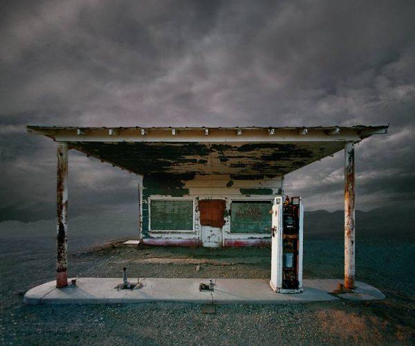 """Abandoned Gas Station, Niland CA - Edition 5 of 9"" - Original Artwork by Ed Freeman"