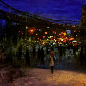 """Brooklyn Bridge"" - Open Edition Print by Chin h Shin"