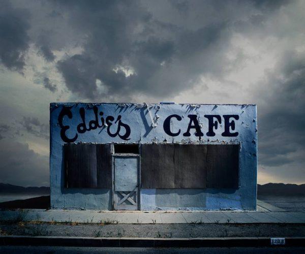 """Eddie's Cafe, Santa Paula CA - Edition 3 of 9"" - Original Artwork by Ed Freeman"