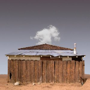"""Fenced House, Lone Pine CA - Edition 3 of 9"" - Original Artwork by Ed Freeman"