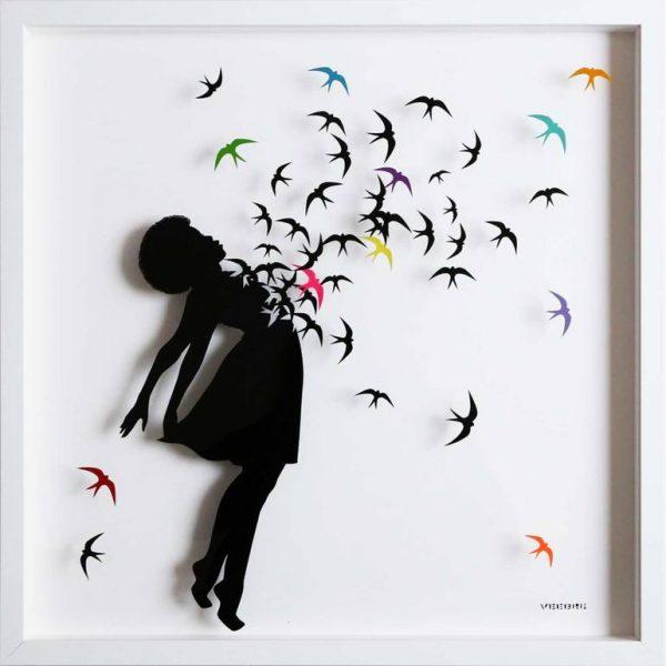 """""""Free II Original Painting on Glass"""" - Original Artwork by VeeBee VeeBee"""