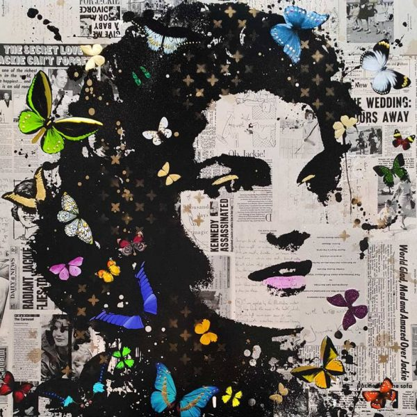"""""""Jackie O Hand Finished Mixed Media - Limited Edition of 10 only"""" - Original Artwork by VeeBee VeeBee"""