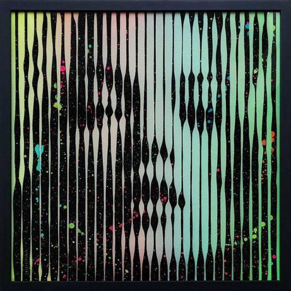 """""""Kate Moss Glow in the Dark Original painting on Glass"""" - Original Artwork by VeeBee VeeBee"""