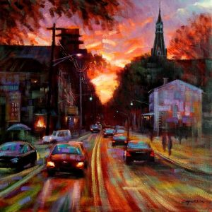 """Lambertville-SOLD"" - Open Edition Print by Chin h Shin"