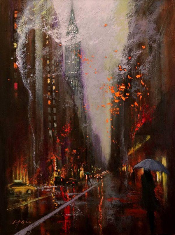 """Lexington Avenue"" - Open Edition Print by Chin h Shin"