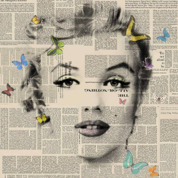 """Marilyn Monroe - Butterflies 4 - signed limited edition of 80"" - Original Artwork by VeeBee VeeBee"