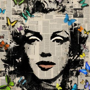 """Marilyn Monroe -Signed Limited Edition 80"" - Original Artwork by VeeBee VeeBee"