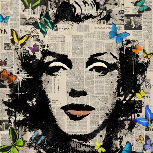 """Marilyn Monroe -Signed Limited Edition 80"" - Original Artwork by VeeBee VeeBee"