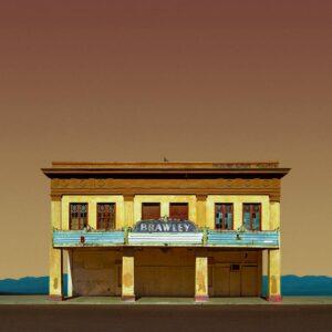 """Movie Theater, Brawley CA-Edition 4 of 9"" - Original Artwork by Ed Freeman"