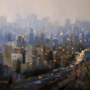 """""""New York City in Blue"""" - Open Edition Print by Chin h Shin"""