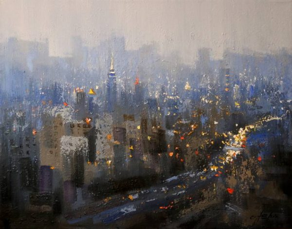"""New York City in Blue"" - Open Edition Print by Chin h Shin"